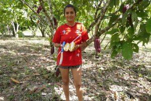 Woman coffee farmer in Peru